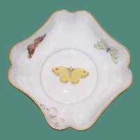 Antique French Limoges Bernardaud Bowl with Butterflies