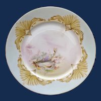 1906 French Limoges Fish Plate, Artist Signed #1