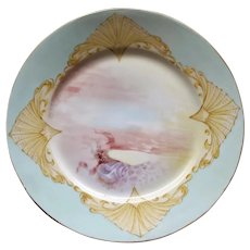 1906 French Limoges Fish Plate, Artist Signed #3