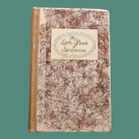 """My Little Book of Stevenson"", edited by Edwin Osgood Grover"
