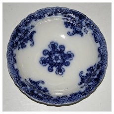 Antique Flow Blue Bow,l Lusitania Pattern, by Wood and Sons, England