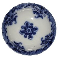 Antique Flow Blue Bowl Lusitania Pattern by Wood and Sons England