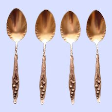 Whiting Sterling Lily of the Valley Ice Cream Spoon. 10 Available