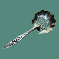 Whiting Sterling Nut Spoon, Lily of the Valley, 4.5 Inches