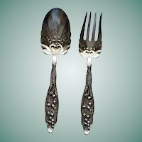 Whiting Salad Set Lily of the Valley Sterling, Fork and Spoon