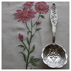 Whiting Lily of the Valley 8.5 Inch Serving Spoon, Antique Sterling,