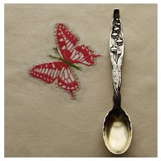 Whiting Sterling Demitasse Spoon in Lily of the Valley