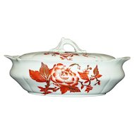 Nineteenth Century Staffordshire 11 Inch by 7 Inch Covered Bowl by Maddock