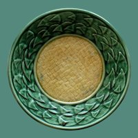 "Antique Griffen, Smith & Hill Etruscan Majolica Yellow and Green 5.5"" Plate"