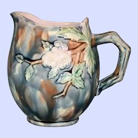Antique Griffen,  Smith, & Hill Etruscan Majolica Milk Pitcher, Hawthorn (Thorn)