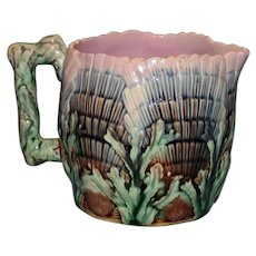 Antique Etruscan Shell and Seaweed 3 and 5/8 Inch Cream Pitcher by Griffin, Smith, Hill
