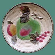 Wedgwood Majolica Plate with Fruit and Leaves