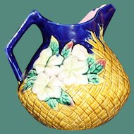Antique Majolica 7 Inch Pitcher Shaped as Pineapple - Striking