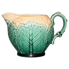 Antique Wedgwood Majolica Cauliflower Creamer