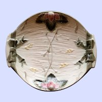 1878 Antique English Wedgwood Majolica Strawberry Dish