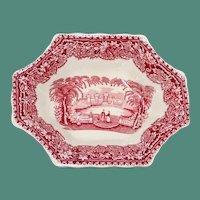 Vintage Octagonal Mason's Vista Dish