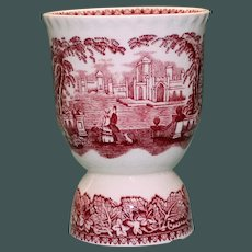 Vintage Masons Vista Red Double Egg Cup