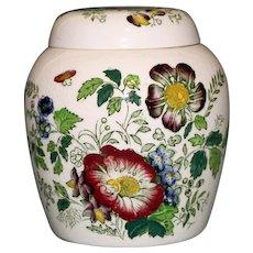 "Mason's English Vintage Ironstone Ginger Jar, ""Paynsley"" Pattern"