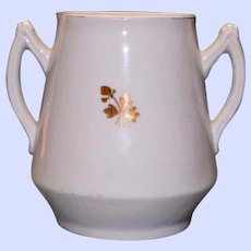 Antique Ironstone Tea Leaf Sugar Pot by Mellor, Taylor & Co.