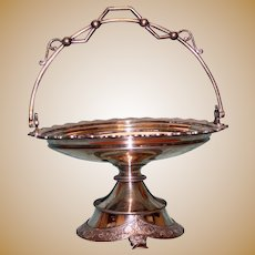 Antique Silver Plate Bride's Basket by Wilcox