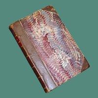 """1878 Leather and Deckel """"Le Roi des Montagnes"""" by Edmund About"""