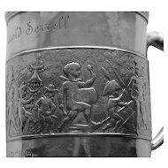 "1891-1902 Antique Tiffany Sterling ""Children's Parade""  Child's Mug"