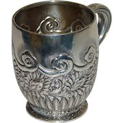 Antique Tiffany Sterling Silver Child's Mug or Cup, 1875-1891