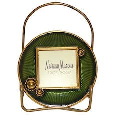 Neiman Marcus Jay Strongwater Commemorative Miniature Emerald and Gold Frame