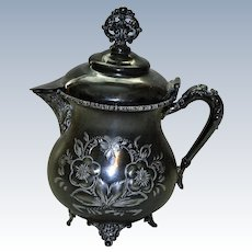 Nineteenth Century Silverplate Sytup Pitcher by New Amsterdam Silver Co.