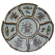 1891-1920 Nippon TE-OH Lazy Susan, 8 Pieces