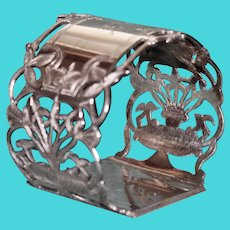 Antique (1870) Gorham Sterling Napkin Ring, American Silver