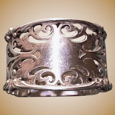 31.4 Gram Antique 1903 English Sterling Napkin Ring, Hallmarked