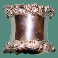 71.1 Gram Walker & Hall Antique English Sterling Corset Shaped Napkin Ring, Hallmarked