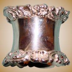 71.1 Gram Walker & Hall Antique English Sterling  Napkin Ring, Hallmarked
