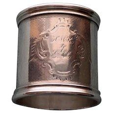 Antique Heavy American Coin Silver  Napkin Ring. c. 1875