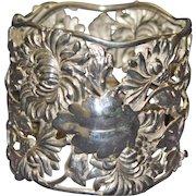 Magnificent Antique Sterling Shiebler Napkin Ring