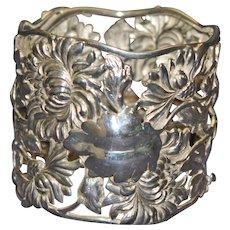 Shiebler American Magnificent Antique Sterling Napkin Ring