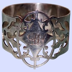 1904 Antique English Sterling Napkin Ring by W. R. Corke