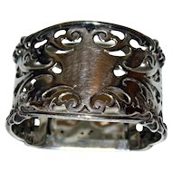 1903 Antique English Sterling Napkin Ring, Reticulated, Fully Hallmarked, London