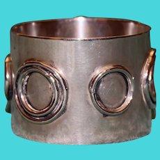 Native American Silver Napkin Ring - Rare
