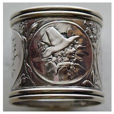 1881 Gorham Sterling Napkin Ring Children From Eggshells, Extraordinary