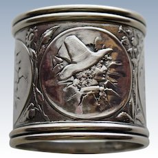 1881 Gorham Sterling Napkin Ring Children From Eggshells, Extraordinary