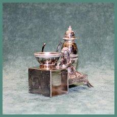 Antique Middleton Figural Napkin Ring Combination Set