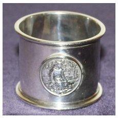 Antique Gorham Sterling Napkin Ring - February