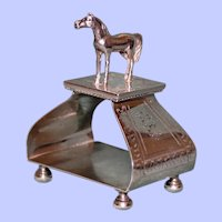 Antique Figural Standing Horse Sterling Napkin Ring, Ford & Tupper - RARE