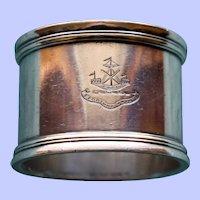 "Antique Tiffany Sterling Napkin Ring ""Fortuna Juvat"""