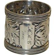 1887 Antique Gorham Sterling Napkin Ring - Majestic, 62.8 grams