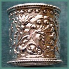 Outstanding Gorham Antique Americnan Sterling Napkin Ring, Art Nouveau