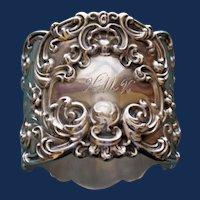 57.5 Gram Antique American Gorham Majestic Sterling Napkin Ring