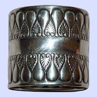 1896 Antique Gorham Sterling  Napkin Ring, 44 Grams, American Silver